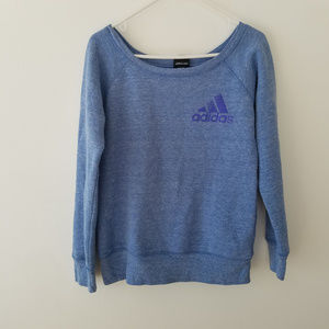 Adidas boat neck sweater super soft cosy blue